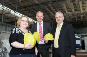 Left to right - Helen Beaton, deputy chief executive at South Tyneside College, Surgo director, Jeff Alexander and Eddie Beckett, South Tyneside College's estates manager